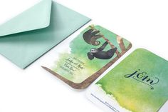Sloth Save-the-Dates by Danielle Sayer, via Behance Wedding Invitations, Invites, Sloth, Save The Date, Stationery, My Love, Dates, Behance, Wedding Ideas