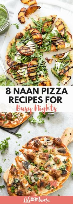 Want some quick dinner inspo? Check out these naan pizza recipes! Naan Pizza, Pizza Stromboli, Pizza Pizza, Nann Bread Pizza, Pizza Food, Crust Pizza, Seafood Recipes, Cooking Recipes, Healthy Recipes