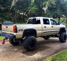 "Chevy Silverado 2500HD Duramax with twin 6"" Stacks."