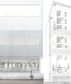 Durisch + Nolli   a f a s i a Coupes Architecture, Architecture Panel, Architecture Graphics, Architecture Student, Architecture Drawings, Architecture Details, Architecture Diagrams, Elevation Drawing, Architectural Section