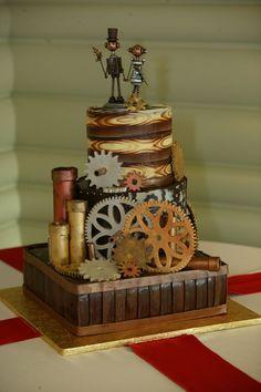 Masse's Pastries - Steampunk Wedding Cake