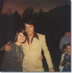 Elvis Presley with a fan on the set of Change Of Habit