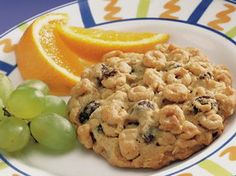 Jumbo Breakfast cookie..... Tried them, and we added sun flower seeds, and I didn't have raisins so i cut up some dates instead and of course added some chocolate chips....they were awesome and the kids loved them!