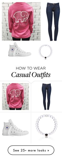 """""""Casual outfits"""" by alliebennett599 on Polyvore featuring moda, Frame Denim, Converse y Everest"""