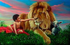Profesía, el leon pastará con la obeja y un niño los guiará, en el reino de paz.