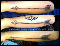 ##arrowtattoodesign##tattooforarm##arrowtattoo##angeltattoostudio## Arrow Tattoo desing