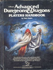 Advanced Dungeons & Dragons Players Handbook by Gary Gygax — new cover by Jeff Easly (1983)