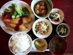 Ebi fry lunch set
