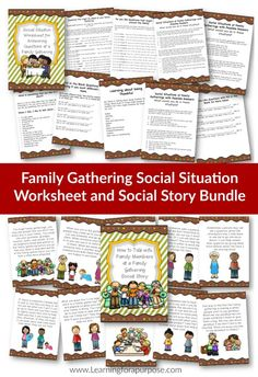 This is a great social situation bundle to help your child with autism learn the social skills needed to feel more successful at a family gathering.