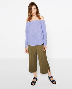Image 1 of CULOTTES WITH SLITS from Zara