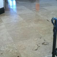 Our Travertine flooring throughout the entire house.. It shows zero dirt girls!