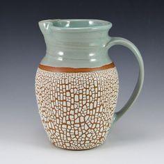 Stoneware Margarita Pitcher - Crackle Glaze