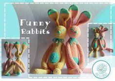 Crochet FUNNY RABBITS :)