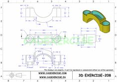 Killer Ab Workouts, Killer Abs, 3d Drawing Images, Drawings, Cad 3d, How To Make Drawing, Cad Drawing, Drawing Practice, Technical Drawing