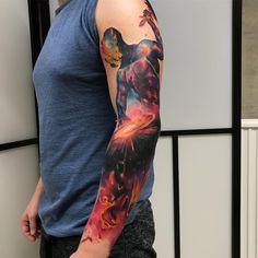 Tattoo artist Emrah De Lausbub authors abstract watercolor tattoo | Germany