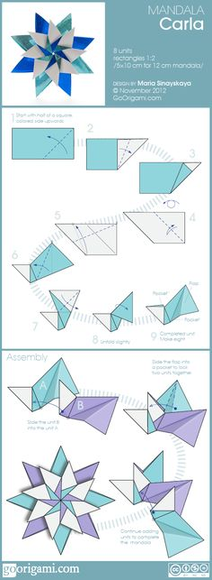 paper stars, tutorials, craft, mandala carla, bows, mandalas, blog, fold, origami mandala