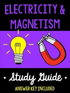 Electricity and Magnetism *Study Guide* Force Physics, Physics Lab, Electromagnetic Induction, Electric Charge, Ohms Law, Hydroelectric Power, Electric Field, Teacher Boards, Static Electricity