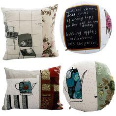 Lovely cushions by Lisa Stickley, London | http://www.lisastickleylondon.com/