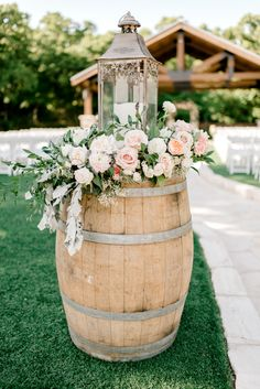 Home Decor Ideas Ikea barrel decor with floral and greenery decorations on lantern candles outdoor weddings.Home Decor Ideas Ikea barrel decor with floral and greenery decorations on lantern candles outdoor weddings Spring Wedding Decorations, Wedding Themes, Wedding Ideas, Spring Weddings, Decor Wedding, Table Decorations, Wedding Favors, Diy Wedding, Dream Wedding