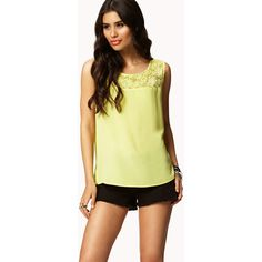 FOREVER 21 Lace Paneled Top ($18)