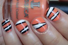 Finding Nemo Inspired Nails using Jessica Tangerine Dreamz. Created by The Polish Playground.
