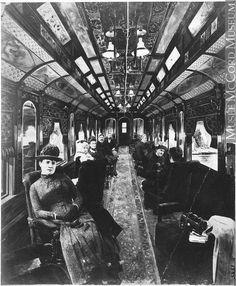 Inside a train circa 1800s