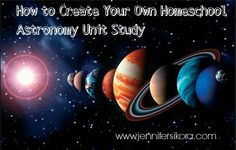 Tired of boring textbooks? Start making your own unit studies! Here is how you can make your own homeschool astronomy unit study Earth And Space Science, Earth From Space, Science And Nature, Space Solar System, Space And Astronomy, Cartography, Astrology, Planets, Study