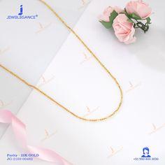 22k Plain Gold Chain (11.32 gms) - Plain Gold Jewellery for Unisex by Jewelegance (JG-2103-00482) #myjewelegance #chain #goldchain #simplejewellery #plaingoldjewellery Simple Jewelry, Gold Jewelry, Gold Chains, Arrow Necklace, Unisex, Gold Jewellery, Gold Bridal Jewellery