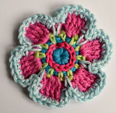 Next stop: Pinterest...This is a cool flower!.. Free pattern! Thanks for the great share!