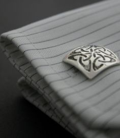 Celtic Knot Cufflinks, Honor Celtic Heritage with Handcrafted Irish Men's Accessories. Exquisite Pieces By Designer and Silversmith Eileen Moylan. Irish Design, Book Of Kells, Irish Jewelry, Celtic Designs, Irish Men, Claddagh, Celtic Knot, Precious Metals, Cufflinks