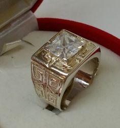 Vintage Ringe - Ring 925er Silberring Kristall groß Vintage SR388 - ein Designerstück von Atelier-Regina bei DaWanda