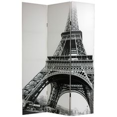 Double Sided Eiffel Tower Canvas Room Divider