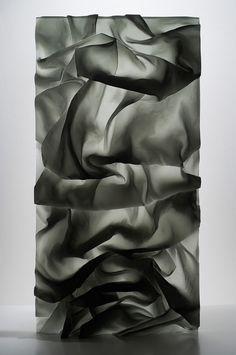 karen lamonte, drapery study (glass) #art #contemporaryart