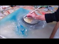 Demo Abstract acrylic painting - Démonstration peinture abstraite - Althea - YouTube