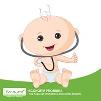 Available in 105 countries, Econorm is the first choice of Child Specialists World-Wide to fight Diarrhea.