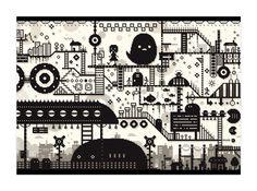 ドット絵ポスター「おもいでステーション」 - nemushop - BOOTH(同人誌通販・ダウンロード)