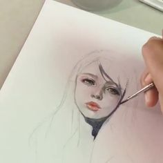 Margaret Morales is a visual designer, painter. Continue Reading and for more watercolor art → View Website Watercolor Art Face, Watercolor Portraits, Watercolor Paintings, Pencil Art Drawings, Drawing Sketches, Samourai Tattoo, Arte Pop, Portrait Art, Aesthetic Art