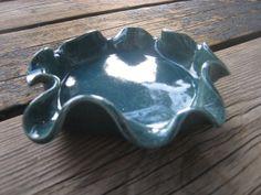 Blue Splash Bowl  Ceramics and Pottery  Teal Blue by WhiteCitrus, $15.00