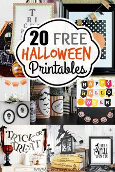 Get ready for Halloween with these spooky and free Halloween printables. 20 free Halloween printables that will make any house festive for Halloween!