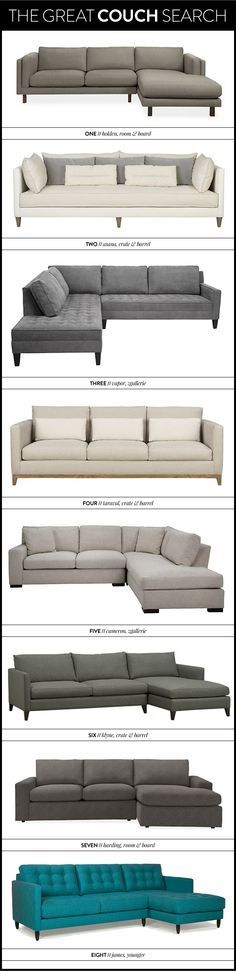 the great couch search - sofa - sectional - meg biram
