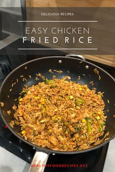 Easy & Delicious Chicken Fried Rice Recipe you must try at home Chicken Fried Rice Chinese, Chicken Fried Rice Recipe Easy, Chicken Fried Cauliflower Rice, Veggie Fried Rice, Chicken Rice Recipes, Fried Chicken, Ingredients For Fried Rice, Fried Rice Calories, Carbs In Chicken