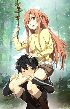 Sword Art Online, Asuna + Kirito, by nyoronyoro