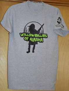 Willowbillies Of Alaska T-Shirt! We have them in Pink, Purple, Black, And Dark Gray. We support are local Alaskan Artist! Check out our website for more unique Alaskan T-shits, Sweatshirts, and more. #alaska #fishing #hunting #greatoutdoors #alaskan #willowbillies Gildan® Ultra Cotton 50% Cotton/50% Polyester Unisex sizes, Preshrunk Designed and Printed in Alaska Mens sizing is true to actual size Women should order a size smaller