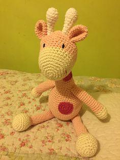 Jirafa Tejida Al Crochet - $ 350,00