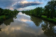 #ErieCanal from Winton Rd. Photo shared by Ed R. #ThisIsROC #ROC #Rochester