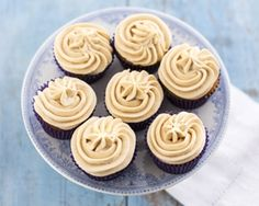 Banoffee cupcakes are inspired by Harpreet Baura's favourite dessert - the famous banoffee pie Banoffee Cupcakes, Banoffee Pie, Cupcake Recipes, Baking Recipes, Cupcake Cakes, Party Cupcakes, Fairy Cakes, Fabulous Foods, Let Them Eat Cake