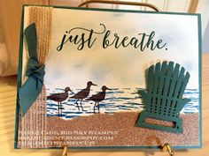 "Hi Stampers, It doesn't take you long to realize that the ""Colorful Seasons"" bundle is going to be a big seller with Stampin'Up! Nautical Cards, Beach Cards, Stamping Up Cards, Rubber Stamping, Retirement Cards, Stampin Up Catalog, Fathers Day Cards, Just Breathe, Get Well Cards"