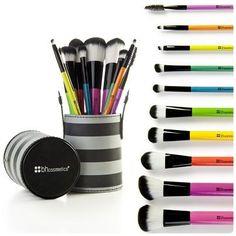 set brochas de maquillaje profesional + curso gratis!