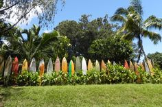 Surfboard fence -  drove by this many times.