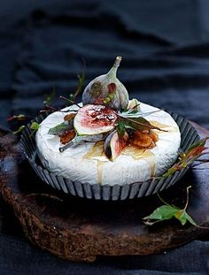 ♔ Cheese with figs